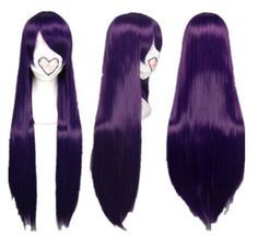 Long Purple Costume Wigs Hetalia,Death Note,Natsume Yuujinchou COS wig (Mix dark purple) by GOOACTION. $24.99. *It's fit for your Parties,Cosplay & Daily Use.. *100% Top Quality & Brand NEW. 100% Japanese Kanekalon (high quality one) made fiber wigs. *Package: 1 wig + 1 free wig cap. *The size is adjustable,it can fit on most people.you can adjust the hooks inside the cap to the correct size to suit your head.. * Easy to care for and Wash. Wash with normal shampo...
