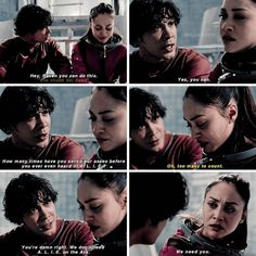 "#The100 4x13 ""Praimfaya"" - Bellamy and Raven"