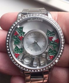 Origami Owl - Feeling Jolly! Our Signature Locket Watch with Swarovski crystals! ❤ www.charmingsusie.origamiowl.com