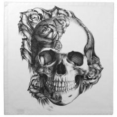 Image result for black rose with skull