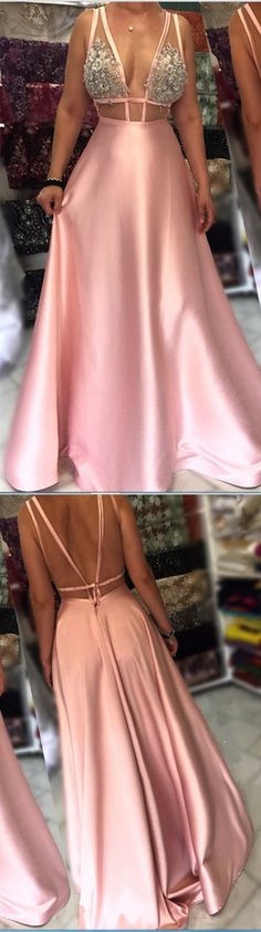 Charming Prom Dress, Sexy Backless Prom Dresses, Sleeveless Long Evening Dress P1205 #promdresses #longpromdress #2018promdresses #fashionpromdresses #charmingpromdresses #2018newstyles #fashions #styles #hiprom #blushpinkprom #laceprom #ballgown