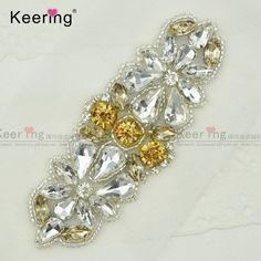 Find More Patches Information about Fashion Pretty Sparkling Crystal  Rhinestone Applique For Bridal Sash WRA 931 9b236dd2799a