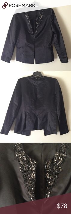 "Lafayette 148NY Black Beaded Blazer Jacket - Silk Lafayette 148NY Black Beaded Blazer Jacket - Silk. Fully Lined, Length 23"", Waist 17"", 2 Front Pockets. Excellent Condition -no Flaws no Fading. Worn Once, Just Dry Cleaned. Retail $321.00 #11061601 Lafayette 148 New York Jackets & Coats Blazers"