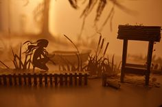 Papercraft Dioramas Come to Life with Projected Animations by Davy and Kristin McGuire  http://www.thisiscolossal.com/2014/05/theatrical-installations-mcguire/