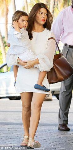 Kourtney Kardashian x Mason... omg look at his little shoes!