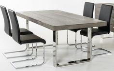 Gray Wood Dining Table | AdvancedInteriorDesigns.com