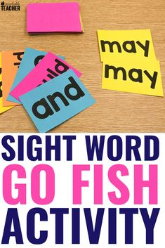Sight word activities can be fun and engaging for preschool, kindergarten, first grade, and grade students in the classroom. These are my favorite hands on activities that require NO worksheets. Get the free flashcards and you're ready to play! Sight Word Flashcards, Sight Word Games, Sight Word Activities, Listening Activities, Dyslexia Activities, Classroom Activities, Children Activities, Work Activities, Montessori Activities