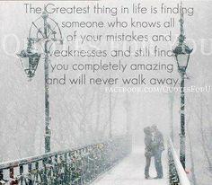 ....never walk away!