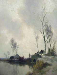 Alexandre Jacob   (French, 1876-1972) Watercolor Landscape, Landscape Art, Landscape Paintings, Watercolor Techniques, Painting Techniques, Painting & Drawing, Watercolor Paintings, Great Paintings, Classical Art