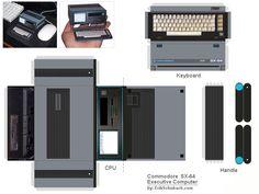 Commodore SX-64 Papercraft Paper Model