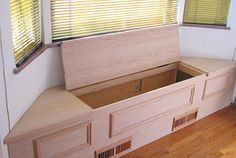 Custom Unfinished Window Bench - Sawdust Therapy