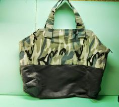 NaeDaze purses and totes! Check out this item in my Etsy shop https://www.etsy.com/listing/239146204/camo-weekender-bag
