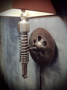 Vintage Motorcycle Sconce by ClassifiedMoto on Etsy, $229.00