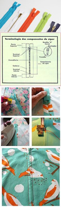 Como Pregar Zíper: Técnica Simples e Infalível. Dress Sewing Tutorials, Sewing Hacks, Sewing Crafts, Sewing Patterns For Kids, Sewing Projects For Kids, Sewing Ideas, Techniques Couture, Sewing Techniques, Sewing Clothes