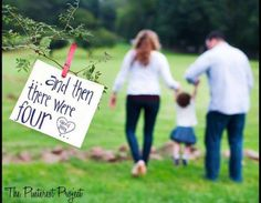 This is a really cute second baby announcement! And baby makes 4