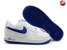 2014 Homme Chaussure Air Force One 25th Low Noir Blanc Bleu SNQZ 63930