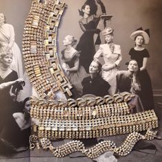 """Diamonds are a Girl's best friend. Rhinestone bracelets montaged on Irving Penn 1947 """"Twelve Beauties"""" #vintagejewelry #vintage #fashion #accessories #style #jewelry #photography"""