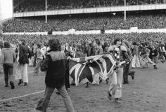 April 19th 1975 was a very very busy day for the Police at White Hart Lane, with numerous pitch invasions, sporadic pitch and terrace fighting, and thousands causing more havoc outside the ground. The importance of the match could not be underestimated with the losers facing relegation a couple of weeks later. Spurs 2 - 0 Chelsea