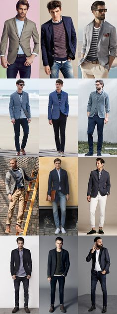 Men's Blazers - Casual and Smart-Casual Outfit Inspiration Lookbook
