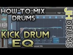 Kick Drum EQ - How To Mix Drums (Part 10)  | by JHDrums - Tronnixx in Stock - http://www.amazon.com/dp/B015MQEF2K - http://audio.tronnixx.com/uncategorized/kick-drum-eq-how-to-mix-drums-part-10-by-jhdrums/
