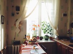 Warm and cozy kitchen