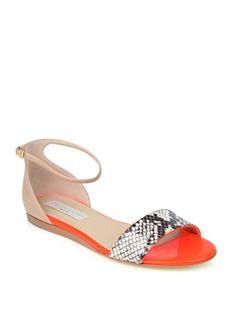 Stella McCartney faux python neon sandals