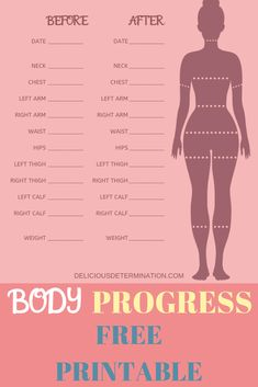 Progress does not always show on the scale! Sometimes the biggest differences are made in inches shed across the body. Track your progress with this free printable PDF. Track before and after progr… Weight Measurement Chart, Body Measurement Tracker, Fitness Journal, Fitness Planner, Bullet Journal For Weight Loss, Weight Charts For Women, Body Chart, Weight Loss Chart, Heath And Fitness