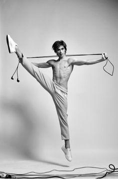 Artem Ovcharenko of the Bolshoi Ballet. Photos (c) Shelukhin Gregory.
