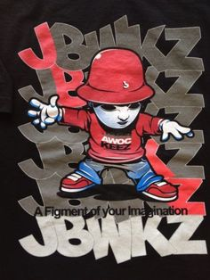 Jabbawockeez t-shirt Large Dance Crew Hip Hop Figment Of Your Imagination #music