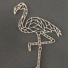 Wooden geometric animals for wall flamingo Geometric Drawing, Geometric Wall Art, Geometric Shapes, Geometric Pattern Design, Geometric Designs, Origami, Metal Art, Wood Art, Matchstick Craft
