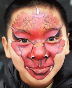 dragon faces face painting - Google leit