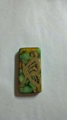 Alcohol ink domino pendant