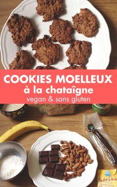 Découvrez notre recette de cookies à la châtaigne, sans gluten et sans lactose. Une adaptation de celle présentée dans le livre de Valérie Cupillard !