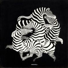 Vasarely Viktor (1908-1997) szitanyomat, papír; 47x47cm j.j.l.: Vasarely 28/90