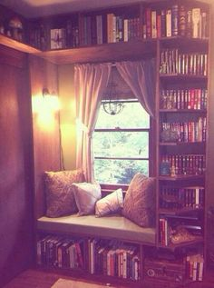 This nook is perfect for reading.