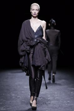I love layering garments and I love garments that draps on the body. This outfit is to die for! Avant garde Haider Ackermann Spring Summer Ready To Wear 2013 Paris. #FW2013 #PFW