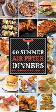 Whether you are looking for bbq chicken, fried fish, ribs, kabobs or hot dogs for cookouts, there are over 50 mouthwatering summer air fryer recipes here 60 Summer Air Fryer Recipes - 60 Summer Air Fryer Recipes Air Fryer Recipes Shrimp, Air Frier Recipes, Air Fryer Oven Recipes, Air Fryer Dinner Recipes, Recipes Dinner, Power Airfryer Xl Recipes, Air Fryer Recipes Vegetables, Breakfast Recipes, Fajita Vegetables