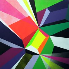 Matt W Moore, Crystals & Lasers Post Painterly Abstraction, Joker Drawings, Impression Textile, Laser Art, Mobile Art, Geometric Art, Geometric Painting, Geometric Patterns, Abstract Art