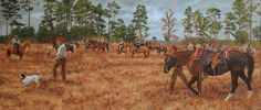 """""""The Timekeeper"""" An oil and a scene from the GA/FL Field Trial."""