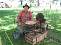 This is a reproduction of a Civil War Artillery Mountain Forge made by Dwight Neely.  The entire forge fits into the box it is sitting on.