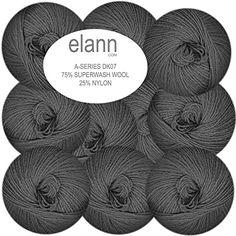 elann DK07 Superwash Wool with Nylon Yarn | 10 Ball Bag | Gun Metal Elann http://www.amazon.com/dp/B00LEAT1UK/ref=cm_sw_r_pi_dp_SX3-tb00DHF2A