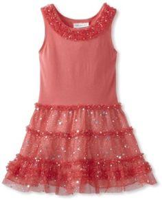Bonnie Jean Girls 2-6X Mesh Tiered Dress