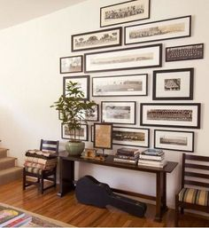 Love this horizontal-frame gallery...