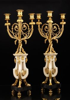 *Pair of French Candelabra in Goût Etrusque, ca. 1785