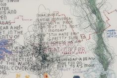 Tilleke stitches maps of modern life that remind of graffiti. She includes anything that moves, amazes or intrigues her. Daily life, mass me...