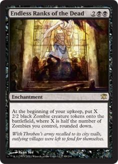 mtg-BLACK-ZOMBIE-DECK-unbreathing-horde-cemetery-reaper-Magic-the-Gathering-rare