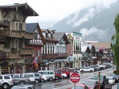 Visit Leavenworth, Washington. Very architecturally reminiscent of Bavaria, Germany.
