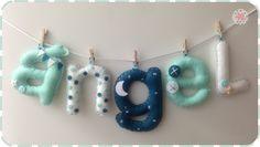 Nombre en fieltro para decorar la habitación de bebés y niñ@s