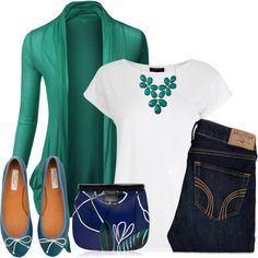 """Spring in green and blue"" by torinmia on Polyvore"