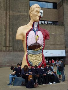 Damien Hirst at the Tate Modern Museum